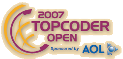 2007 TopCoder Open Sponsored by AOL®