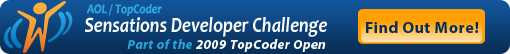 AOL/TOpCoder Sensations Developer Challenge