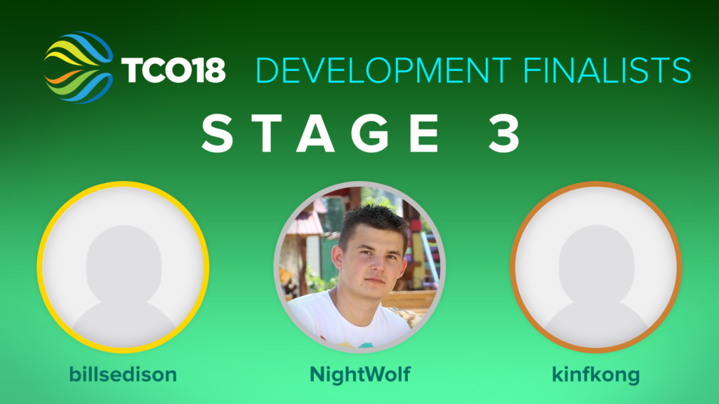 Stage 3 Development Finalists