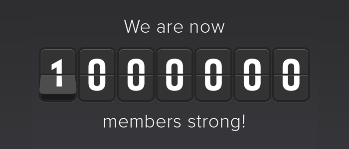1 Million Members Strong